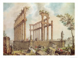 View of the Palais Gallien and the Piliers de Tutelle, 1796 Giclee Print by James Basire