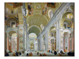 Interior of St. Peter's, Rome, c.1754 Giclee Print by Giovanni Paolo Pannini