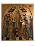 St. Francis Giving the Rule to His Disciples, Panel from the Pala Di Rocca Giclee Print by Niccolo Antonio Colantonio