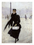 Parisian Woman in the Place de La Concorde, c.1890 Giclee Print by Jean Béraud