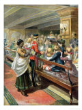 Children's Christmas Dinner at Sea from the Graphic Christmas Number, 1889 Giclee Print by Godefroy Durand