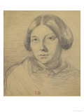 Portrait of a Woman, Possibly George Sand Giclee Print by Eugene Delacroix