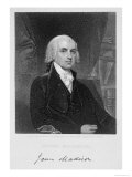 Portrait of James Madison, Engraved by William A. Wilmer Giclee Print by Gilbert Stuart