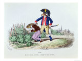 Aha! My Rabbit I've Caught You Eating Your Neighbours Cabbages, Les Metamorphoses du Jour, c.1854 Giclee Print by  Grandville