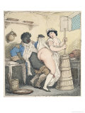 The Negro Footman and the Milkmaid Giclee Print by Thomas Rowlandson