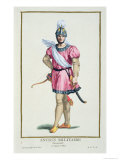 Dress of a Norman Soldier, Receuil Des Estampes, c.1780 Giclee Print by Pierre Duflos