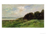 The Coast of Villerville, 1875 Giclee Print by Charles-Francois Daubigny