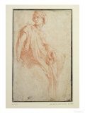 Study of a Sibyl For Santa Maria Della Pace, Rome Reproduction proc&#233;d&#233; gicl&#233;e par Raphael 