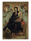 Virgin of the Franciscans, c.1300 Gicle-tryk af Duccio di Buoninsegna