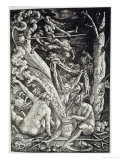 Witches at the Sabbath, Hans Baldung Grien, a History of Magic Published Late 19th Century Giclee Print by Hans Baldung Grien