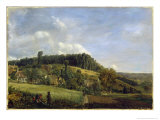 Forest Glade Near a Village, 1833 Giclee Print by Pierre Etienne Theodore Rousseau