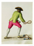 Man Playing with a Racquet and Balls Reproduction proc&#233;d&#233; gicl&#233;e par Jan van Grevenbroeck