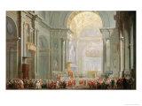 Interior of a St. Peter's, Rome Impression giclée par Giovanni Paolo Pannini