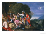Athene and the Nine Muses at the Wells of Hipokrene, 1624 Giclee Print by Johann Or Hans Konig