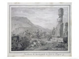 Islanders and Monuments of Easter Island, 1786 Giclee Print by Gaspard Duche de Vancy