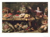 Still Life with Fruit and Vegetables Giclee Print by Frans Snyders Or Snijders