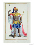 Alkmey, King of Guinea from Receuil Des Estampes, Published 1780 Giclee Print by Pierre Duflos
