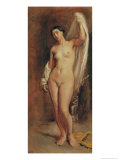 Standing Female Nude, Study For the Central Figure of The Tepidarium, 1853 Giclee Print by Theodore Chasseriau