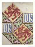 Floor Design For the Houses of Parliament Giclee Print by Augustus Welby Northmore Pugin