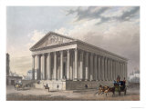 Exterior View of the Madeleine, Paris Giclee Print by Philippe Benoist