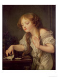 The Dead Bird Giclee Print by Jean-Baptiste Greuze