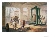Preparing the Cable, from The Atlantic Telegraph by William Howard Russell, Published 1866 Giclee Print by Robert Dudley