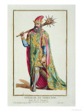 Harold, King of Denmark from Receuil Des Estampes, c.1780 Giclee Print by Pierre Duflos