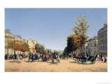 View of the Champs-Elysees from the Place de L&#39;Etoile, 1878 Giclee Print by Edmond Georges Grandjean