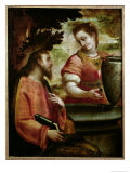 Christ and the Woman of Samaria, c.1575-80 Giclee Print by Luca Cambiaso