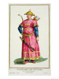 Mandarin Warlord from Receuil Des Estampes, Published 1780 Giclee Print by Pierre Duflos