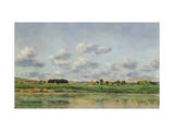 Banks of the Loing, Late 1860S Giclee Print by Charles-Francois Daubigny