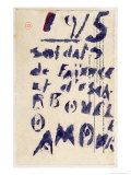Soldiers of Clay, Case D'Armons Poetry Anthology, c.1915 Giclee Print by Guillaume Apollinaire