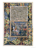 Rehoboam Waging War Against Jeroboam, from the Book of Hours of Louis D'Orleans, 1490 Giclee Print by Jean Colombe