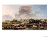 The Quay and Village of Passy in 1757 Giclee Print by Nicolas Raguenet