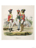 Sepoys, from L'Inde Francaise by M.E. Burnouf, Engraved by Marlet and Cie, Published 1827-35 Giclee Print by Weber