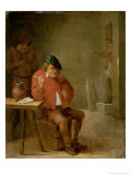 Der Raucher Gicl&#233;e-Druck von David Teniers the Younger