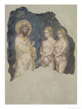 Adam and Eve Blessed by God, c.1357 Giclée-tryk af Ridolfo di Arpo Guariento