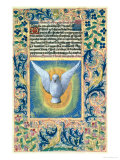 Holy Spirit, from the Book of Hours of Louis D'Orleans, c.1469 Giclee Print by Jean Colombe