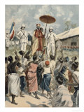 Proclamation of the New King of Dahomey, from Le Petit Journal, 19th February 1894 Giclee Print by Oswaldo Tofani