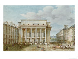 View of the Facade of the Theatre Italien Giclee Print by Victor Jean Nicolle