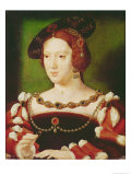 Portrait of Eleanor of Hapsbourg Giclee Print by Joos Van Cleve