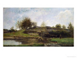 The Lock at Optevoz, 1855 Giclee Print by Charles-Francois Daubigny