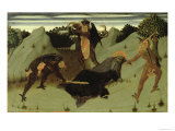 St. Anthony Beaten by Devils, Panel from the Altarpiece of the Eucharist, 1423-26 Giclee Print by Sassetta