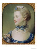 Young Girl with a Cat Giclee Print by Jean-baptiste Perroneau