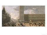View of Piazza San Marco, Venice, c.1726 Giclee Print by Luca Carlevaris