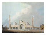 The Jummah Musjed, Delhi, Plate XXIII from Oriental Scenery, Published 1797 Giclee Print by Thomas & William Daniell
