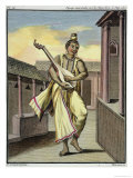 Musician with Indian Lute, Voyage Aux Indes et a La Chine, c.1782 Giclee Print by Pierre Sonnerat
