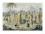 House of the Ancients, Island of Tinian, Plate 31, Le Costume Ancien ou Moderne, c.1820-30 Giclee Print by G. Bramati