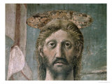 The Resurrection, Detail of Christ's Head, c.1463 Giclee Print by Piero della Francesca