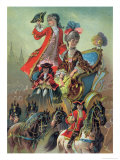 In the Chariot, Illustration from The Nutcracker, by E.T.A Hoffman Giclee Print by Carl Offterdinger